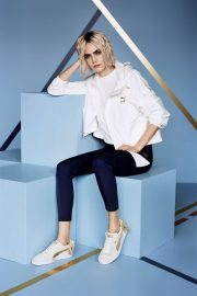Cara Delevingne for Puma Suede Bow Varsity Trainer Campaign 2018 Photos 5