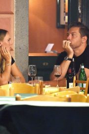 Caroline Wozniacki and David Lee Out for Dinner in Portofino 2018/07/15 7
