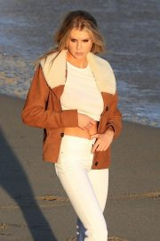 Charlotte McKinney on the Set of a Photoshoot at a Beach in Malibu 2018/07/06 13