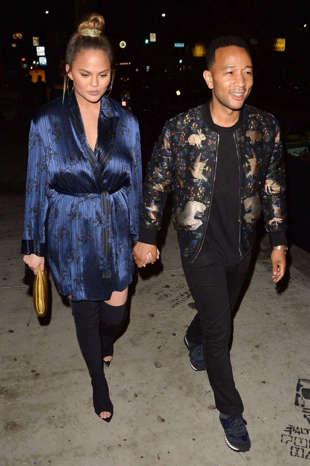 Chrissy Teigen and John Legend at Jon & Vinny's Restaurant in Los Angeles 2018/06/25 1