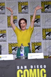 Chyler Leigh at Supergirl Panel Comic-con in San Diego 2018/07/21 3