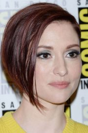 Chyler Leigh at Supergirl Panel Comic-con in San Diego 2018/07/21 11