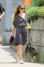 Dakota Johnson Out with Her Dog in New York 2018/07/21 1