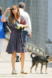 Dakota Johnson Out with Her Dog in New York 2018/07/21 2