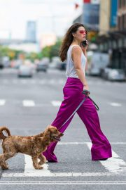 Danielle Campbell Out with her Dog in New York 2018/06/19 6