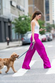 Danielle Campbell Out with her Dog in New York 2018/06/19 9