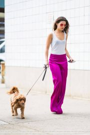 Danielle Campbell Out with her Dog in New York 2018/06/19 10
