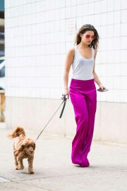 Danielle Campbell Out with Her Dog in New York 2018/06/26 2