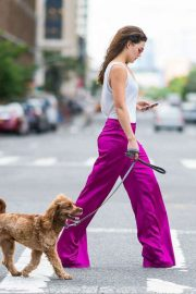 Danielle Campbell Out with Her Dog in New York 2018/06/26 5