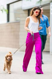 Danielle Campbell Out with Her Dog in New York 2018/06/26 12