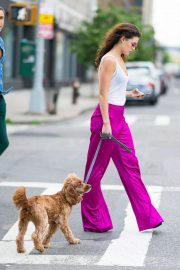 Danielle Campbell Out with Her Dog in New York 2018/06/26 13