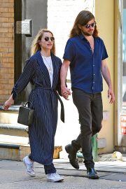 Dianna Agron and Winston Marshall Out in New York 2018/05/23 10