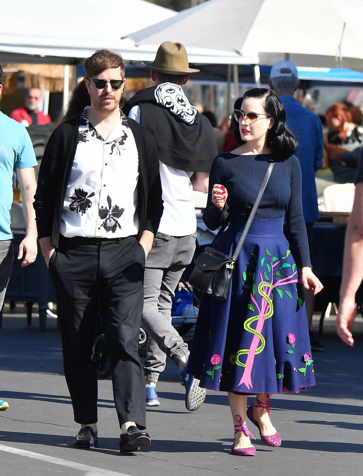 Dita Von Teese and Adam Rajcevich Shopping at Flea Market in Los Angeles 2018/05/24 1