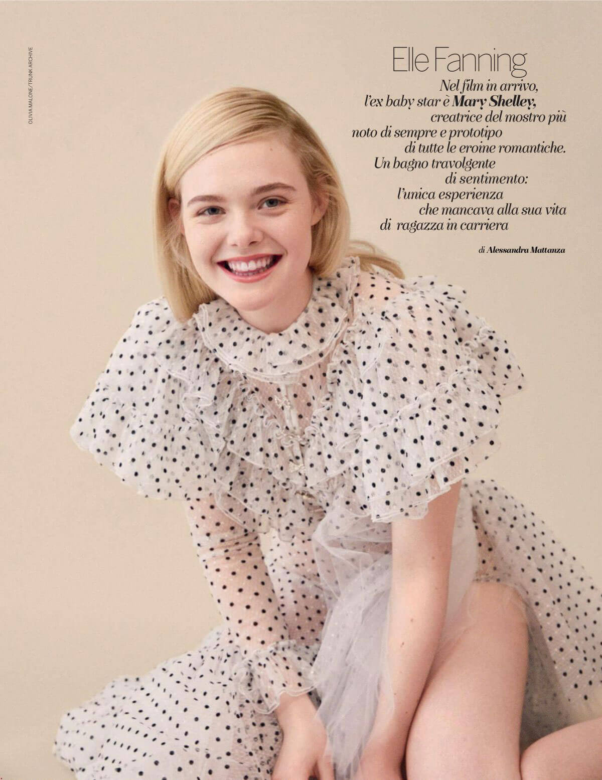 Elle Fanning in Gioia Magazine, August 2018 Issue 1