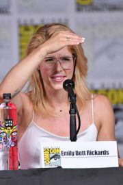 Emily Bett Rickards at Arrow Panel at Comic-con in San Diego 2018/07/21 1