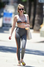 Emma Roberts in Tights Leaves a Gym in Los Angeles 2018/07/07 4