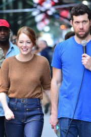 Emma Stone on The Set of Comedy in New York 2018/07/17 3