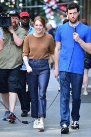 Emma Stone on The Set of Comedy in New York 2018/07/17 8