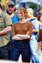Emma Stone on The Set of Comedy in New York 2018/07/17 9