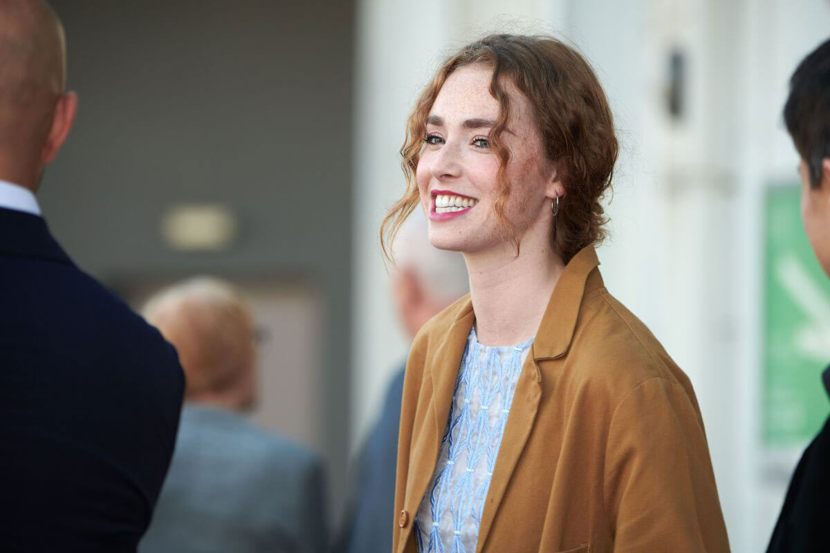 Freya Mavor at Dead in a Week or Your Money Back Photocall at 72nd Edinburgh International Film Festival 2018/06/27 1