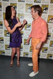 Gal Gadot and Chris Pine at Warner Bros Photocall at Comic-con in San Diego 2018/07/21 1