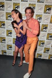 Gal Gadot and Chris Pine at Warner Bros Photocall at Comic-con in San Diego 2018/07/21 2