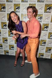 Gal Gadot and Chris Pine at Warner Bros Photocall at Comic-con in San Diego 2018/07/21 3