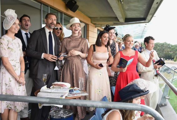 Georgia May Foote, Kirsty Gallacher and Victoria Pendleton at King George Weekend at Ascot Racecourse 2018/07/28 1