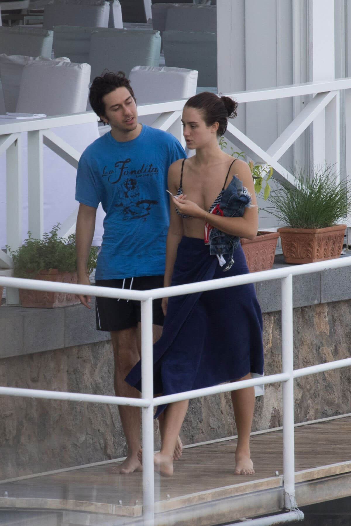 Grace Van Patten and Nat Wolff at Hotel Regina Isabella in Ischia 2018/07/22 1