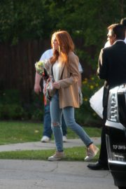 Isla Fisher Arrives on the Set The Starling in Studio City 2018/05/21 2