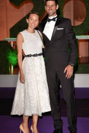 Jelena Djokovic and Novak Djokovic at Wimbledon Champions Dinner at Guildhall in London 2018/07/15 1