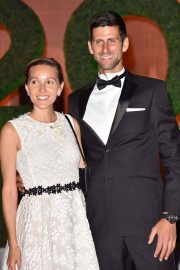 Jelena Djokovic and Novak Djokovic at Wimbledon Champions Dinner at Guildhall in London 2018/07/15 2