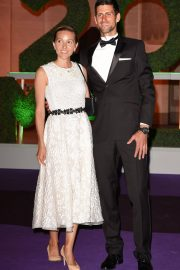 Jelena Djokovic and Novak Djokovic at Wimbledon Champions Dinner at Guildhall in London 2018/07/15 4