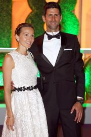 Jelena Djokovic and Novak Djokovic at Wimbledon Champions Dinner at Guildhall in London 2018/07/15 7