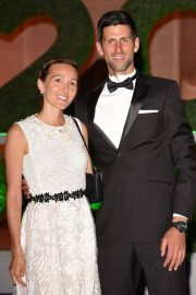 Jelena Djokovic and Novak Djokovic at Wimbledon Champions Dinner at Guildhall in London 2018/07/15 9