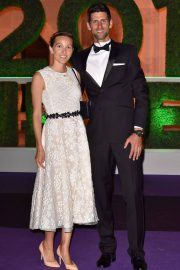 Jelena Djokovic and Novak Djokovic at Wimbledon Champions Dinner at Guildhall in London 2018/07/15 11