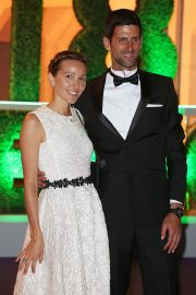 Jelena Djokovic and Novak Djokovic at Wimbledon Champions Dinner at Guildhall in London 2018/07/15 12
