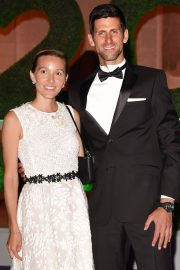 Jelena Djokovic and Novak Djokovic at Wimbledon Champions Dinner at Guildhall in London 2018/07/15 13