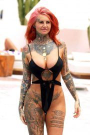 Jemma Lucy in Swimsuit at a Pool in Ibiza 2018/07/23 11