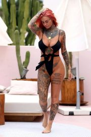 Jemma Lucy in Swimsuit at a Pool in Ibiza 2018/07/23 12