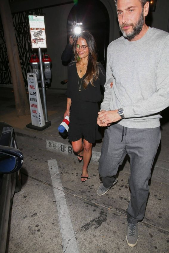 Jordana Brewster and Andrew Form Leaves Craigs Restaurant in West Hollywood 2018/05/26 1