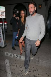 Jordana Brewster and Andrew Form Leaves Craigs Restaurant in West Hollywood 2018/05/26 5