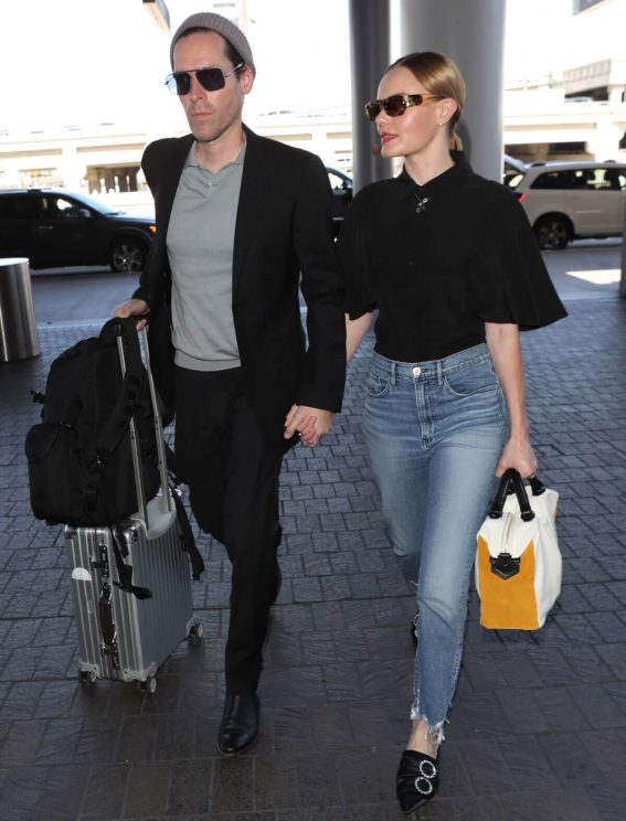 Kate Bosworth and Michael Polish at LAX Airport in Los Angeles 2018/06/28 1