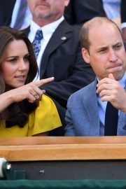 Kate Middleton and Prince William at Wimbledon Tennis Championships in London 2018/07/15 7