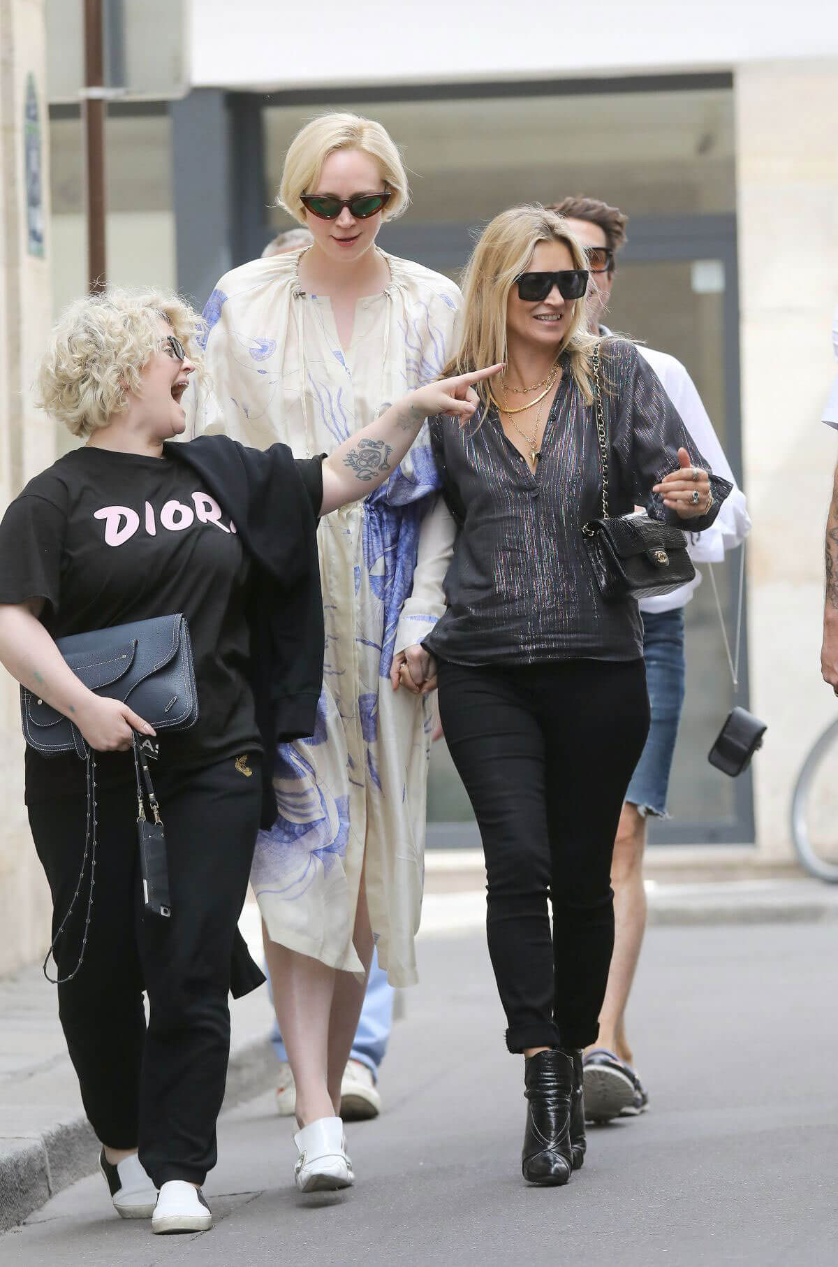 Kate Moss Kelly Osbourne and Gwendoline Christie in Paris 2018/06/24 1
