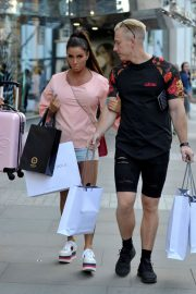 Katie Price and Kris Boyson Shopping at Harvey Nichols and Selfridges in Manchester 2018/07/28 11