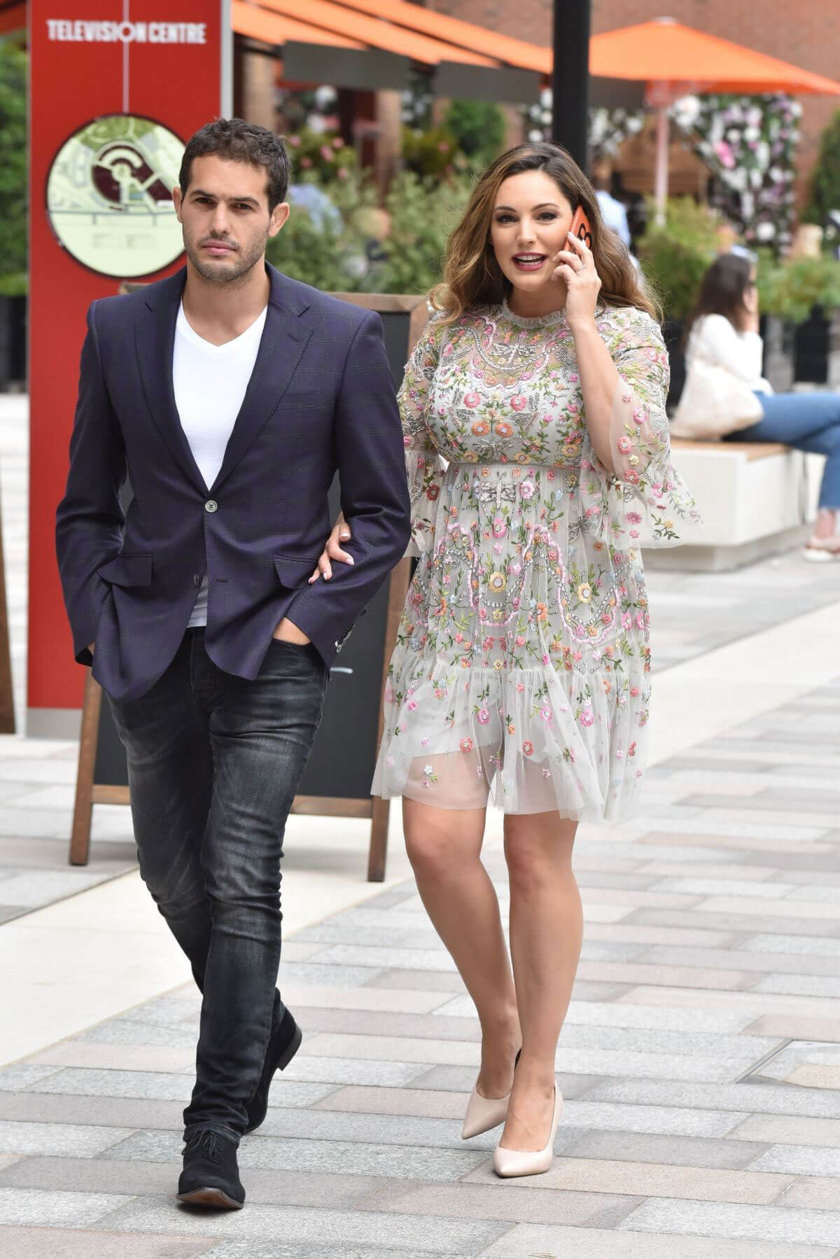 Kelly Brook and Jeremy Parisi at ITV Studios in London 2018/05/21 1