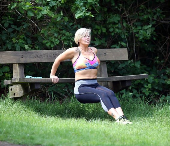 Kerry Katona Working Out at a Park in Sussex 2018/05/31 1
