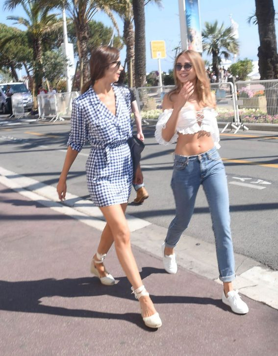 Kimberley Garner and Alice Jeffery Out in Cannes 2018/05/11 2