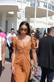 Laura Harrier Leaves Hotel Martinez in Cannes 2018/05/12 4